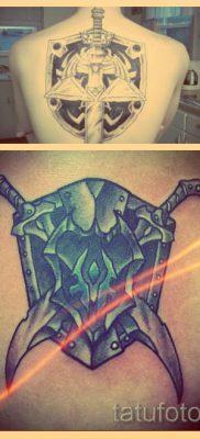 Значение тату щит и меч – информация и фото готовых татуировок
