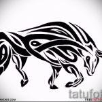 Достойный эскиз для наколки с изображением тельца – классная идея для тату телец