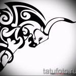 Прикольный эскиз для тату с изображением тельца – стильная идея для татуировки телец