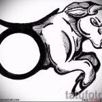 Интересны эскиз для татуировки с рисунком тельца – интересная идея для наколки телец
