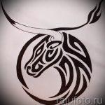 Достойный эскиз для тату с изображением тельца – прикольная идея для наколки телец