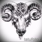 Прикольный эскиз для татуировки с рисунком тельца – классная идея для наколки телец