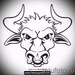 Прикольный эскиз для тату с изображением тельца – стильная идея для тату телец