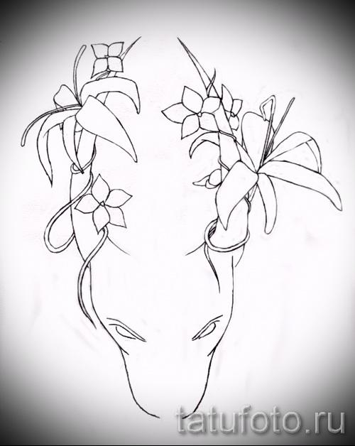 Прикольный эскиз для наколки с изображением тельца – стильная идея для наколки телец