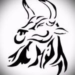 Классный эскиз для татуировки с рисунком тельца – классная идея для татуировки телец