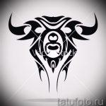 Прикольный эскиз для тату с рисунком тельца – прикольная идея для тату телец