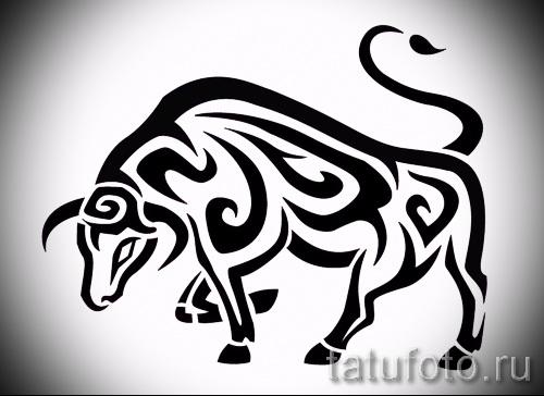 Классный эскиз для наколки с изображением тельца – интересная идея для татуировки телец