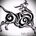 Прикольный эскиз для тату с рисунком тельца – стильная идея для тату телец