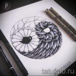Интересный вариант рисунка наколки – символ Инь-Янь, который подойдет для эксклюзивного эскиза тату инь-янь