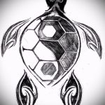 Крутой вариант рисунка наколки – символ Инь-Янь, который подойдет для классного эскиза татуировки инь-янь
