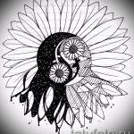 Достойный вариант рисунка наколки – символ Инь-Янь, который подойдет для эксклюзивного эскиза тату инь-янь