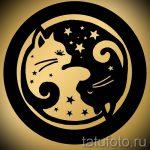Приемлемый вариант рисунка тату – знак Инь-Янь, который подойдет для классного эскиза тату инь-янь