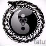 Приемлемый вариант рисунка наколки – символ Инь-Янь, который подойдет для крутого эскиза тату инь-янь