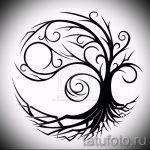 Достойный вариант рисунка тату – знак Инь-Янь, который подойдет для интересного эскиза татуировки инь-янь
