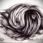 Интересный вариант рисунка татуировки – символ Инь-Янь, который подойдет для достойного эскиза татуировки инь-янь