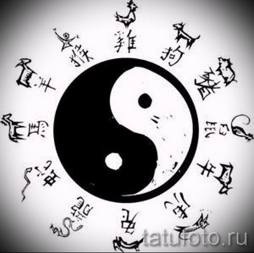 Приемлемый вариант рисунка наколки – символ Инь-Янь, который подойдет для классного эскиза тату инь-янь