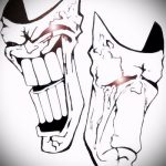 Зачетный ваирант эскиза для наколки маска - картинка для разработки эксклюзивной тату с маской