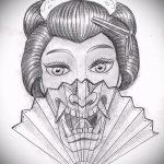 Достойный ваирант эскиза для татуировки маска - рисунок для разработки интересной тату с маской