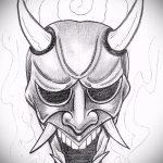 Крутой ваирант эскиза для тату маска - картинка для создания уникальной тату с маской