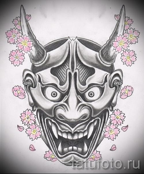 Крутой ваирант эскиза для тату маска - картинка для создания стильной тату с маской