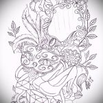 Достойный ваирант эскиза для тату маска - картинка для создания уникальной татуировки с маской