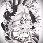 Классный ваирант эскиза для татуировки маска - рисунок для разработки эксклюзивной тату с маской