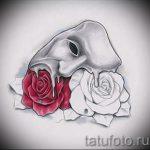 Интересный ваирант эскиза для татуировки маска - картинка для разработки стильной тату с маской