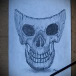 Зачетный ваирант эскиза для тату маска - рисунок для разработки интересной татуировки с маской