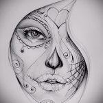 Классный ваирант эскиза для татуировки маска - картинка для создания уникальной тату с маской