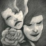 Интересный ваирант эскиза для наколки маска - картинка для разработки интересной татуировки с маской
