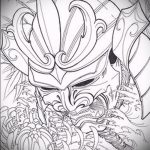 Классный ваирант эскиза для наколки маска - картинка для создания стильной татуировки с маской
