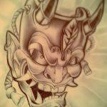 Достойный ваирант эскиза для татуировки маска - рисунок для разработки эксклюзивной тату с маской