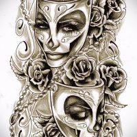 Эскизы тату маски