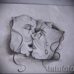 Достойный ваирант эскиза для наколки маска - картинка для разработки эксклюзивной татуировки с маской