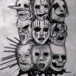 Зачетный ваирант эскиза для тату маска - картинка для разработки уникальной тату с маской