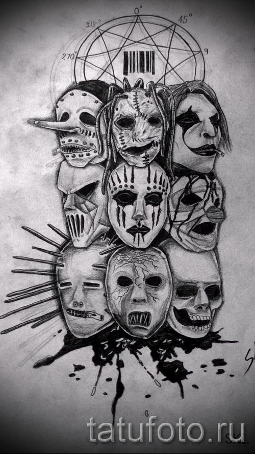 Рисунок слипкнота маска