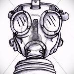 Достойный ваирант эскиза для наколки маска - рисунок для создания стильной тату с маской
