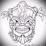 Интересный ваирант эскиза для тату маска - картинка для создания эксклюзивной тату с маской