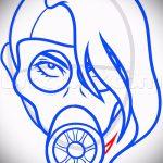 Крутой ваирант эскиза для татуировки маска - рисунок для разработки интересной татуировки с маской