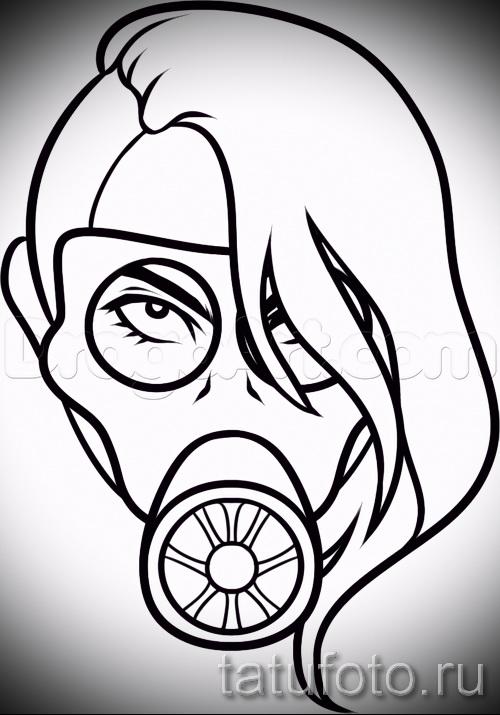 Достойный ваирант эскиза для тату маска - картинка для разработки эксклюзивной татуировки с маской