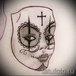 Зачетный ваирант эскиза для наколки маска - картинка для создания стильной тату с маской