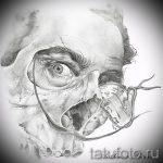 Зачетный ваирант эскиза для наколки маска - картинка для разработки эксклюзивной татуировки с маской