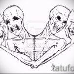 Крутой ваирант эскиза для тату маска - картинка для создания стильной татуировки с маской
