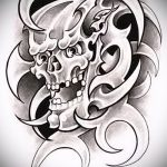 Достойный ваирант эскиза для тату маска - картинка для создания интересной татуировки с маской
