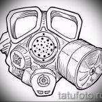 Необычный ваирант эскиза для татуировки маска - картинка для создания стильной тату с маской