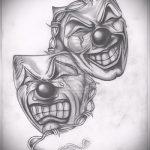 Крутой ваирант эскиза для наколки маска - картинка для создания стильной татуировки с маской