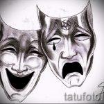 Достойный ваирант эскиза для тату маска - картинка для создания эксклюзивной тату с маской