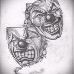 Интересный ваирант эскиза для татуировки маска - картинка для разработки уникальной тату с маской