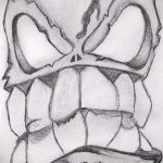 Зачетный ваирант эскиза для наколки маска - рисунок для создания стильной тату с маской