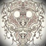 Зачетный ваирант эскиза для татуировки маска - рисунок для разработки стильной тату с маской